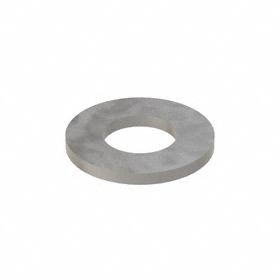 Narrow Flat Washer: Steel, Plain, Low Carbon Material Grade, For 1/2 in Screw Size, 0.532 in ID, 1.062 in OD, SAE, 100 PK