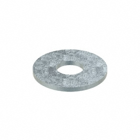 Oversized Flat Washer: Steel, Zinc Plated, Low Carbon Material Grade, For M20 Screw Size, 22 mm ID, 60 mm OD, 10 PK