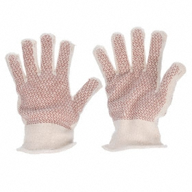 Heat-Resistant Glove: Fabric Glove, Left/Right Pr, Added Grip, 400° F Max Temp, 10 3/4 in Glove Length, Knit Cuff, 1 PR