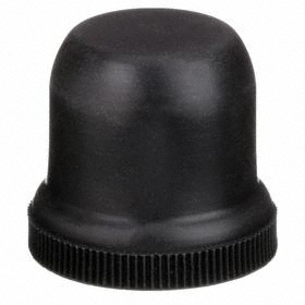 Eaton Push Button Boot: 30 mm Compatible Panel Cutout Dia, Metal, 38.1 mm Overall Ht, Black, Screw On, IP65 IP Rating