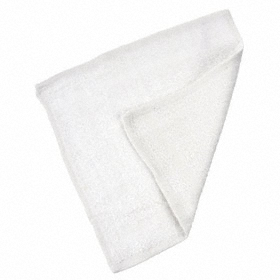 Wash Cloth: 100% Cotton, White, 12 in Lg, 12 in Wd, Blended Cam, 12 PK
