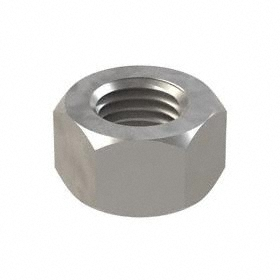 "Hex Nut: Steel, Plain, Grade 5 Material Grade, 1""-8 Thread Size, 1 1/2 in Wd, 57/64 in Ht, 5 PK"