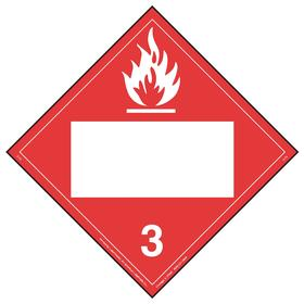DOT Vehicle Placard: Flammable Liquid, 10 3/4 in Overall Ht, 14 1/3 in Overall Wd, Vinyl, Highway Shipments/Rail Shipments/Water Shipments, Red/White