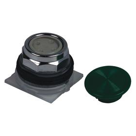 Schneider Electric Emergency Stop Push Button Operator: Non-Illuminated, Mushroom Operator, Momentary, Green, 30 mm Operator Dia, Metal