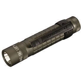 Mini Flashlight: Aluminum Body, 320 lm, 193 m Beam Distance, High/Low/Strobe, Adj, LED, 5 1/4 in Overall Lg, Green Body