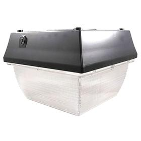 Roadway Fixture: Ceiling, For LED, 9 in Overall Ht, 12 1/4 in Overall Lg, 12 1/4 in Overall Wd, Bulb Included, Bronze