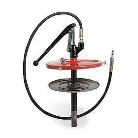 Lever-Handle Grease Pump: For 35 lb/5 gal Container Size, 0.3 oz/stroke Volume Per Stroke, 2500 psi Max Op Pressure