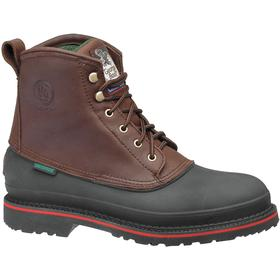 Georgia Leather Work Boot: Men, Steel, 6 in Shoe Ht, Brown, Waterproof, Electrical Hazard Rated, Fair Mfr Suggested Sole Slip Rating, E Shoe Wd, 1 PR