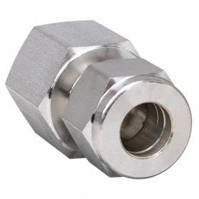 Stainless Steel Instrumentation Tube Connector: Female, 6 mm Port 1 Tube Size, 1/2 Pipe Size (Port 2), NPT