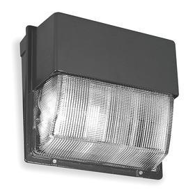 Acuity Lithonia Wide Beam Wall-Mount Fixture: Metal Halide, 8 to 25 ft Recommended Mounting Ht, 120 to 277V AC, 70 W/400 W Watt