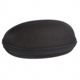 Rigid Eyewear Case: Zipper, Nylon, Black
