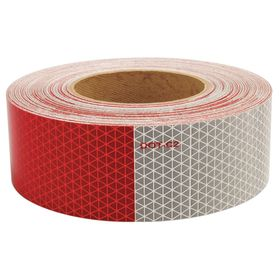 Vehicle Marking Reflective Tape: 2 in Overall Wd, Trucks & Trailers, Continuous Roll, 5 yr Max Adhesion Time, 0.008 in Overall Thickness