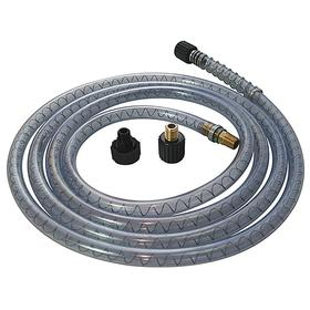 Dispensing Hose for Round Container: Quick-Connect Pump Hose, 10 ft Hose Lg, 1/2 in Hose OD, Black/Clear