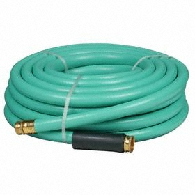 Garden Hose: Water Hose, Heavy, Cold Water For Water Temp, 3/4 in Hose ID, Reinforced, 500 psi Max Op Pressure, Green