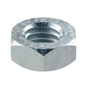 """Hex Nut: Zinc Plated, Grade 8 Material Grade, Steel, 3/8""""-16 Thread Size, 9/16 in Wd, 15/64 in Ht, Imperial, Jam, 25 PK"""