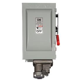 Siemens Heavy Duty Safety Disconnect Switch: Three Phase, 3 Poles, 100 A @ 600V AC Switch Rating, NEMA 12 NEMA Rating