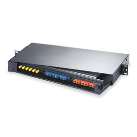 Hubbell Premise Wiring Patch Panel: Fiber, 1 Rack Units, 18 Ports