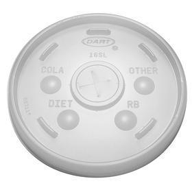 Disposable Lid: Flat Lid, Hot/Cold Cup Lid, For 12 to 24 fl oz Cup Capacity, Straw Slotted Opening, Translucent, 1000 PK