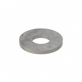 USS Flat Washer: Steel, Plain, Low Carbon Material Grade, For 5/16 in Screw Size, 0.375 in ID, 0.875 in OD, 100 PK