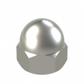 Low Crown Acorn Nut: 18-8 Stainless Steel,  8-32 Thread Size, 5/32 in Thread Dp, 5/16 in Wd, 10 PK