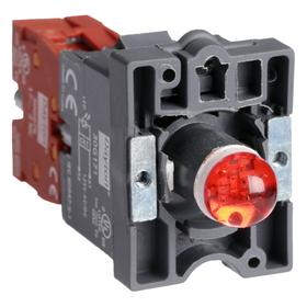 Lamp Module & Contact Block: For Plastic Operators, 1.57 in Overall Lg, Red, Includes Bulb, 2.81 in Overall Ht, 1.81 in Overall Wd, LED