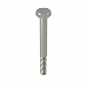 """316 Stainless Steel Hex Cap Screw: 1/4""""-20 Thread Size, 2 1/4 in Shank Lg, Partially Threaded, 7/16 in Head Wd, 10 PK"""