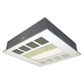 Electric Ceiling Heater: Recessed Mounting, White, Steel, Single Phase, Wire Leads, 277V AC, 42° F Air Temp Rise