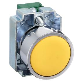 Non-Illuminated Push Button: 10 A @ 600V AC Make Current, Flush Operator, 1NO Pole-Throw Configuration, Momentary, Yellow, Round