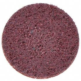 Nylon Webbed Mesh Finishing Disc: 2 in Disc Dia, TS/TSM Turn-On/Off, Medium Relative Grit Grade, Aluminum Oxide