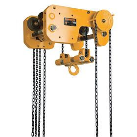 Harrington Manual Chain Hoist with Trolley: 16000 lb Max Load Capacity, Steel, 20 ft Lift, 74 lb Pull to Lift Rated Load