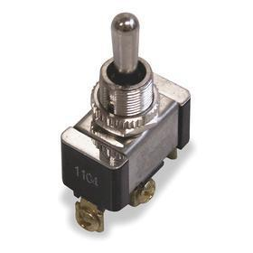 Power Tool Toggle Switch: 2 Positions, 1/2 in Mounting Hole Dia, 20 A @ 125V AC Switch Rating (AC), 1 Poles, SPDT