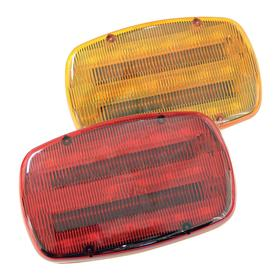 Magnetic Mount Vehicle Warning Light: Rectangle, Amber, 6 1/4 in Overall Lg, 3 1/2 in Overall Ht, 1 Flash Patterns