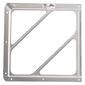 Brady Front Plate Placard Holder: (1) One-Piece Frame, 10 3/4 in Overall Ht, 10 3/4 in Overall Wd, Aluminum