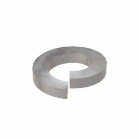 Split Lock Washer: Steel, Plain, For 1 in Screw Size, 1.003 in ID, 1.656 in OD, 0.25 in Thickness, 5 PK