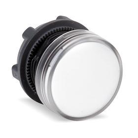 Schneider Electric Pilot Light Head: For Schneider ZB5BV Mount Base & Integral White LED Module, 1.22 in Overall Lg