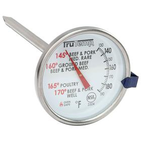 Taylor Thermometer: 2.00 in Dial Dia, Stainless Steel, Analog, Cooking Process