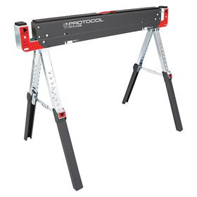 General Purpose Saw Horse: Steel, 32 in Max Ht, 22 in Min Ht, 3 1/2 ft Lg, 18 1/2 in Wd, 1300 lb Max Load Capacity
