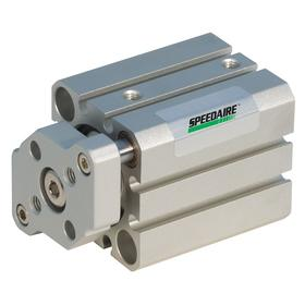 Compact Air Cylinder: Double Acting, Rubber Bumper Cushion, Aluminum, 40 mm Bore Dia, 25 mm Stroke Lg, 1/8 in Port Size
