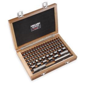 Starrett Gauge Block Set: Rectangular, ASME AS-1 Grade, 81 Gauge Blocks, 0.1001 in Min Nominal Size, Steel