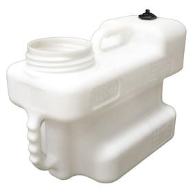 Storage Container: 15 L Capacity, Rectangular, 3 Handles, High-Density Polyethylene, Translucent White
