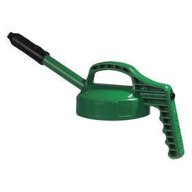 Quick-Identify Lid: Round, Std Spout, Green, High-Density Polyethylene, 5 13/16 in Lid OD, 9 1/4 in Overall Ht