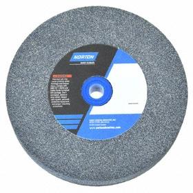 Norton Grinding Wheel for Nonferrous Metals: Silicon Carbide, Medium Relative Grit Grade, 7 in Wheel Dia, 60 Grit, Green