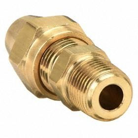 Air Brake Compression Tube Connector: Male, Copper - Gamut