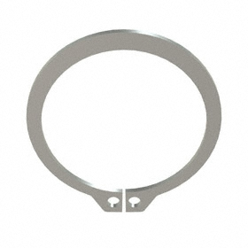 External Retaining Ring: Stainless Steel, Plain, SH-175 Ring, For 1 3/4 in Shaft Dia, For 1.65 in Groove Dia