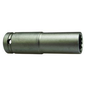 Impact Socket: SAE, 6 Points, 3/8 in Socket Size, 3 1/4 in Overall Lg, 1/4 in Bolt Clearance Dp, Oiled, Hex, Square
