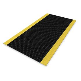 Nonconductive Mat: 5 ft Lg, PVC, 170000 V Max Use Volt, 3 ft Wd, 1/4 in Thickness, X-Tread, Black, Yellow