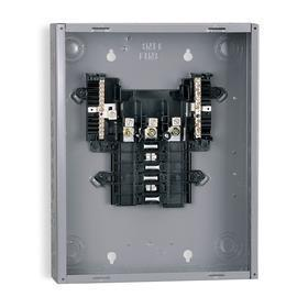 Schneider Electric Load Center: Main Lug, 12 Spaces, 125 A Current Rating, 0 Max # of Tandem Breakers, 17 in Overall Ht