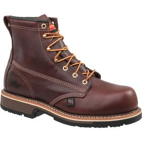 Thorogood Leather Work Boot: Men, Steel, 6 in Shoe Ht, Brown, Slip Resistant, Electrical Hazard Rated, 4E Shoe Wd, 1 PR