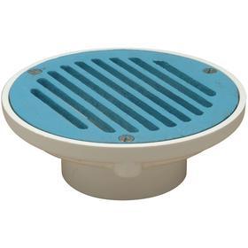 Zurn Floor Drain: 3 in Pipe Size, Round, Hub - Gamut