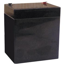 Rechargeable Lead Acid Battery: 4.5 Ah Capacity, 4 in Ht, 3 1/2 in Wd, 2 25/32 in Dp, Phenolic/Fiberglass